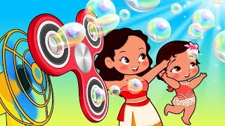 Moana and Maui Babies with Funny story about color bubbles! Popular Kids Songs by Moana and Maui
